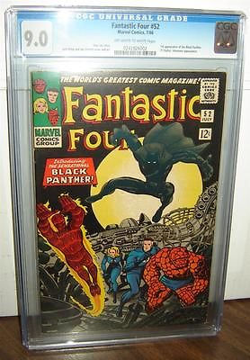 Fantastic Four 52 CGC 90 OWWhite Pages 1st Black Panther 1966 id 13754