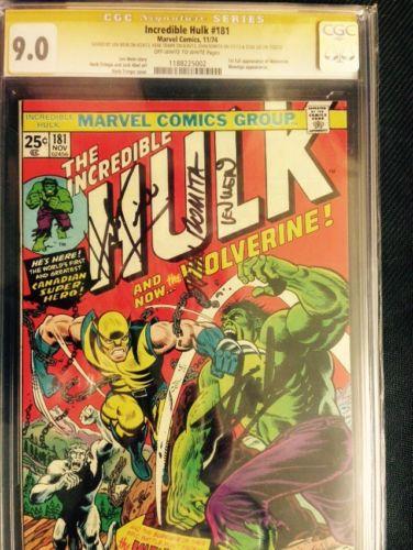 Incredible Hulk 181 CGC SS 90 Signed 4x Trimpe Wein Romita Stan Wolverine