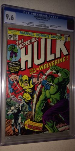 CGC 96 NM Incredible Hulk 181 WP 1st Full Wolverine App Uncanny Xmen
