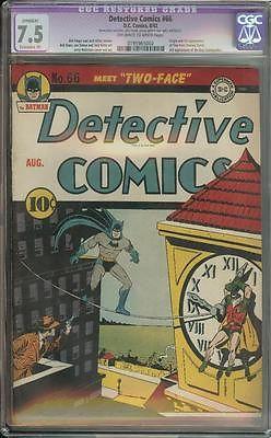 DETECTIVE COMICS 66 CGC 75 R ORIGIN  1ST APP TWOFACE HARVEY DENT BATMAN