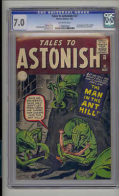 Main Resource Auction >> Rare Collectors Comics | Tales to Astonish 27 CGC 70 FVF OW Unrestored Marvel 1st AntMan Henry Pym