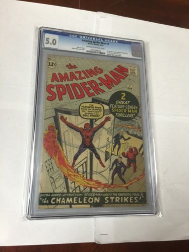 Amazing SpiderMan 1 Cgc 50 OffWhite To White Pages Looks Like A 60