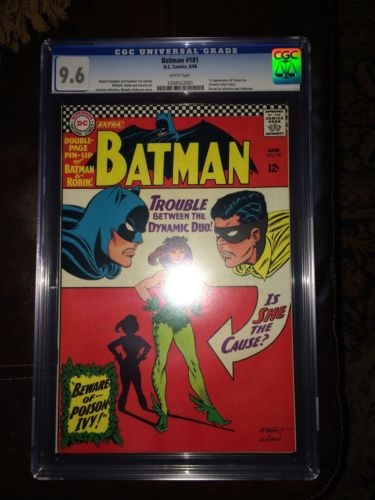 Batman 181 CGC 96 White Pages NM Near Mint 1st Poison Ivy Silver Age Comic