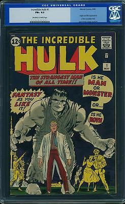 Hulk 1 CGC 65 Old label Insane book and looks like an 80