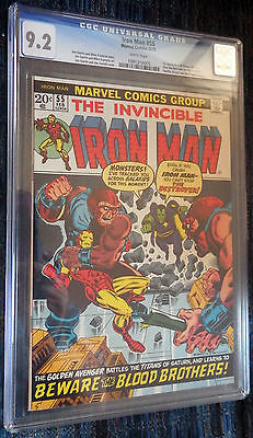 Iron Man55 CGC 92 White Pages  First THANOS