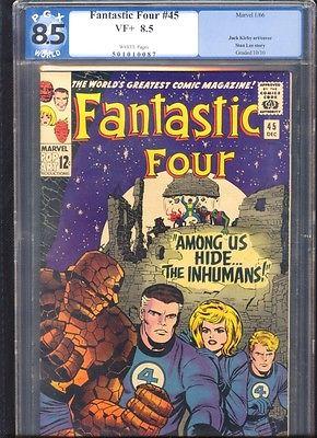 Fantastic Four 45 PGX  like CGC  85 Dec 1965 White  pgs 1st app Inhumans