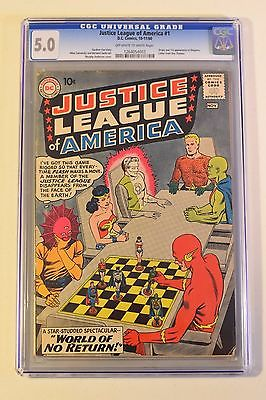 Justice League of America 1 CGC 50 1960 DC First Despero Movie