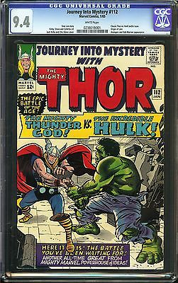 Journey Into Mystery 112 CGC 94 NM Origin Loki Classic Thor vs Hulk battle