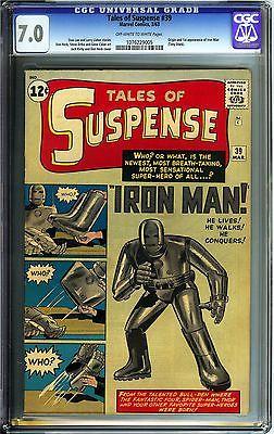 Tales of Suspense 39 CGC 70 FNVF Marvel Comics OWW Origin 1st app Iron Man