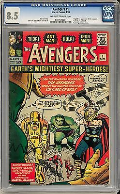 Avengers 1 CGC 85 OWW Origin  1st Appearance of the Avengers