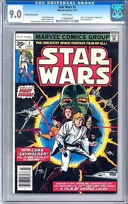 Star Wars 1 35 Cent Variant  CGC  90  White Pages New Movie Hot Book