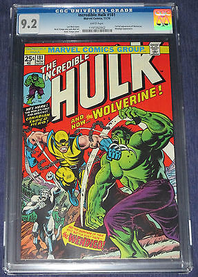 INCREDIBLE HULK 181 CGC 92 First Full Wolverine 1974 Unrestored Holy Grail