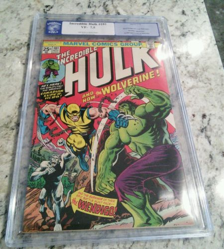 The Incredible Hulk 181 Nov 1974 Marvel CGG Like CGC 75 1st Wolverine