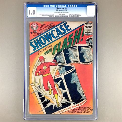 Showcase 4 CGC 10 1956 Origin  1st SA appearance of the FLASH BARRY ALLEN