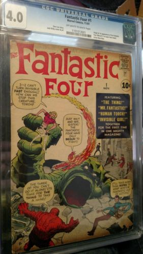 Fantastic Four 1 40 graded CGC classic Jack Kirby cover