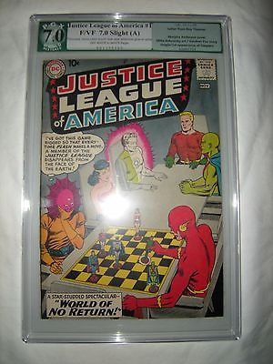 JUSTICE LEAGUE OF AMERICA 1  1960 ORIGINAL 1ST PRINT  PGX GRADED 70 LIKE CGC