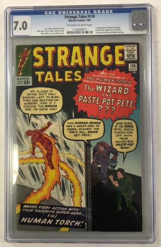 CGC 70 STRANGE TALES 110 1ST DOCTOR STRANGE 1960S HUMAN TORCH MARVEL COMICS
