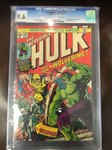 Hulk 181 CGC 96 1974 1st Wolverine XMen Bronze Age Grail