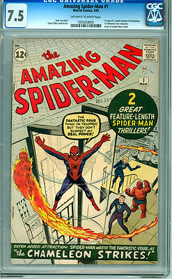 Amazing Spiderman 1 CGC 75 VF OWW pages Unrestored