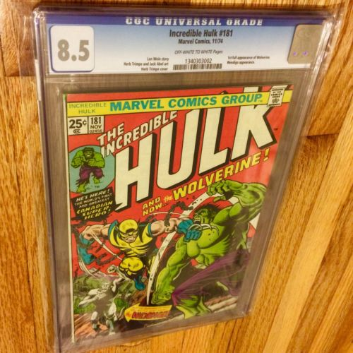 INCREDIBLE HULK 181 CGC 85 Very Fine 1ST Appearance of WOLVERINE MEGA KEY