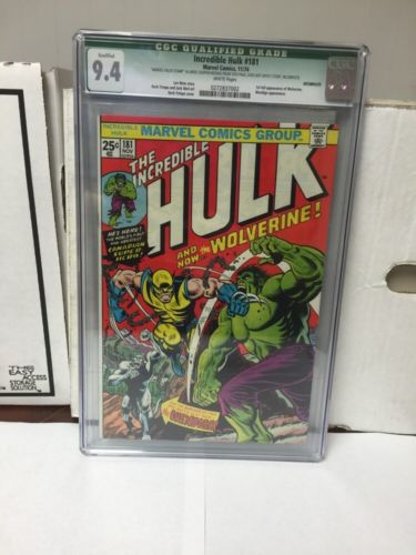 Incredible Hulk 181 Cgc 94 White Pages Qualified 1St Wolverine Stunning Copy