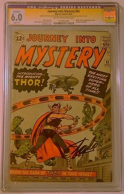 Journey into Mystery 83 CGC 60 SS Stan Lee First Thor Slight Color Touch
