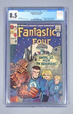 Vintage 1965 Marvel Comics Fantastic Four 45 CGC Graded 85 Silver Age Comic