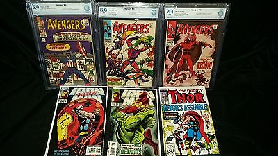 Avengers 57 CBCS not CGC 94 55 80 16 60  Iron Man 304  305