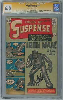 Tales of Suspense 39 CGC 60  1st Iron Man 1963 Marvel  Stan Lee Signature
