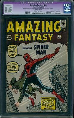Amazing Fantasy 15 CGC 85 OW R Silver Age Key Marvel Comic 1st Spidey LK