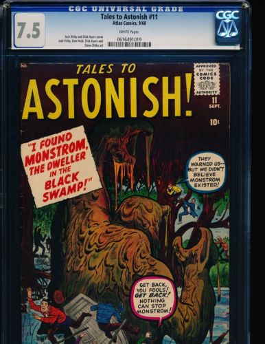 Tales To Astonish  11  Jack Kirby coverart  Ditko art CGC 75 WHITE Pgs