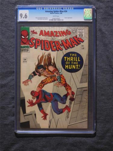 The Amazing SpiderMan 34 1966 Marvel CGC 96 WHITE PAGES KRAVEN LEE DITKO