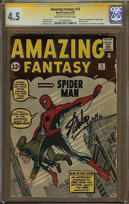 Amazing Fantasy CGC 45 SS Signed by Stan Lee 1st Appearance of SpiderMan