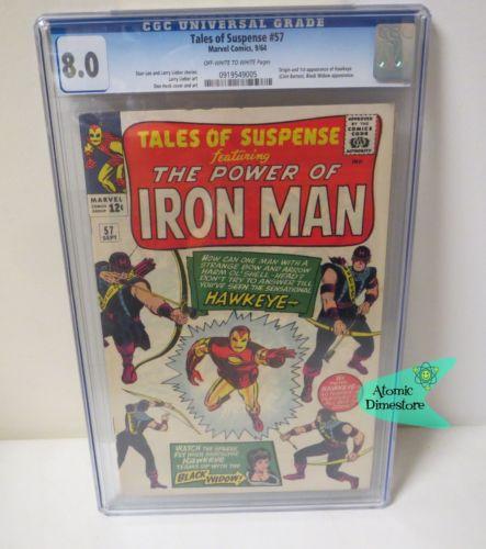 Vintage 1964 MARVEL TALES OF SUSPENSE IRON MAN CGC 80 1st HAWKEYE Key Issue