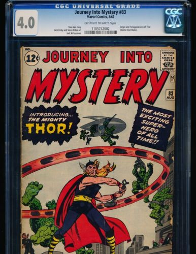 Journey Into Mystery  83  1st Thor CGC 40 OWWHITE Pgs
