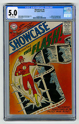 Showcase 4 CGC 50 OW HOT KEY 1st SA app The Flash 1956 DC Silver Age Comic