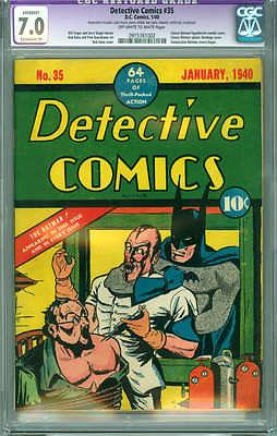 Detective Comics 35 CGC 70 FVF Batman Hypodermic Needle cover Rare