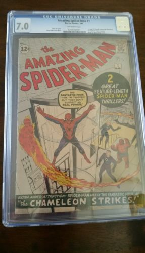 AMAZING SPIDERMAN  1 CGC 70 1963 KEY SILVER AGE