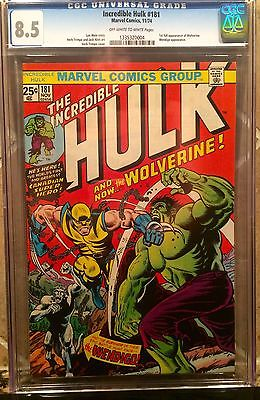 MARVEL INCREDIBLE HULK 181 CGC 85 FIRST APPEARANCE WOLVERINE NEW CASE