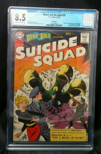 The Brave and the Bold 25 CGC 85 Unrestored Newly Slabbed 891959 DC