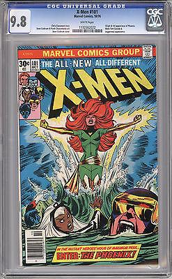 Uncanny XMen 101 CGC 98 NM 1st Phoenix White Pages Oct 1976 Marvel
