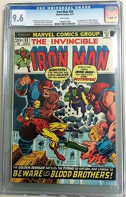 Iron Man 55 CGC 96 WP February 1973 1st Thanos