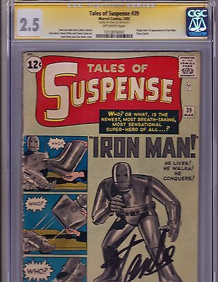 Tales of Suspense  39      CGC  35    1st App Iron Man     Signed by Stan Lee