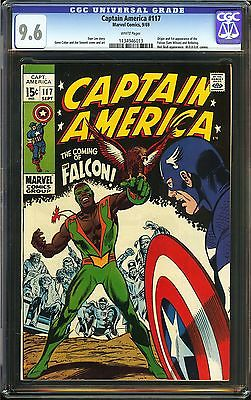 Captain America 117 CGC 96 NM W Origin 1st app the Falcon Sam Wilson Redwing C