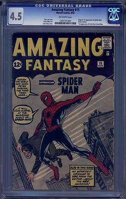 Amazing Fantasy 15 CGC 45 Marvel 1962 1st Appearance of SpiderMan