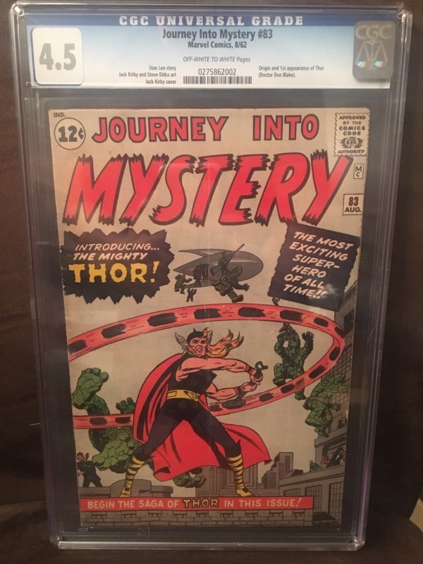 Journey Into Mystery 83 CGC 45 OWW 1st Appearance of Thor Lee Kirby Ditko