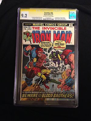 Iron Man 55 cgc 92 Stan Lee First Thanos and Drax the Destroyer NO RESERVE