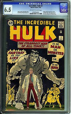 Incredible Hulk 1 CGC 65 FN Marvel Comics OWW Origin 1st app Incredible Hulk