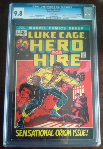 HERO FOR HIRE 1 CGC 98 WHITE PAGES 1ST APPEARANCE LUKE CAGE POWERMAN