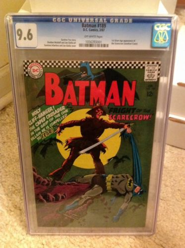 Batman 189 CGC 96 OW 1st Silver Age appearance of Scarecrow